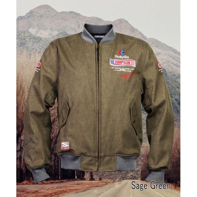 SIMPSON NSM-2107 ボンバーライダースジャケット サージグリーン◆全4色◆