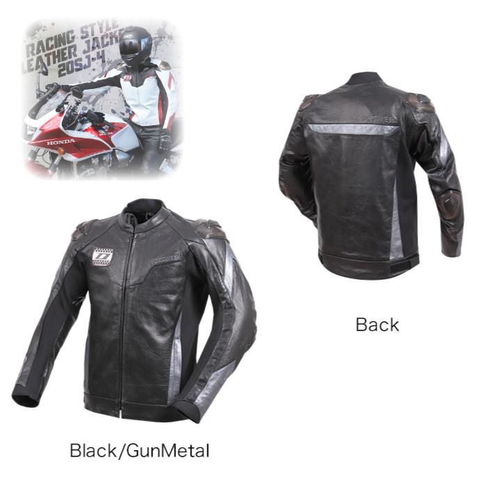 20SJ-4 メッシュレザージャケット ブラック/ガンメタ◆全2色◆