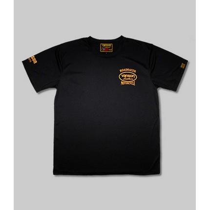 VANSON VS21804S メッシュTシャツ ブラック/イエロー ◆全3色◆