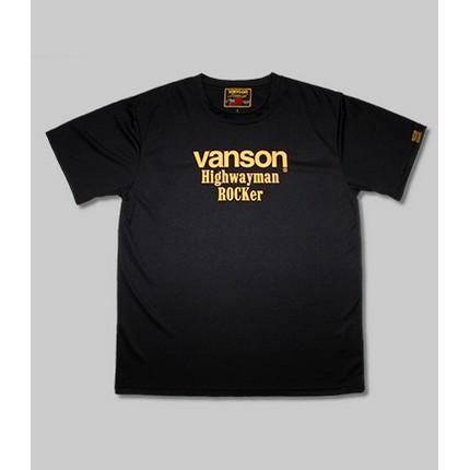 VANSON VS21805S メッシュTシャツ ブラック/イエロー ◆全3色◆