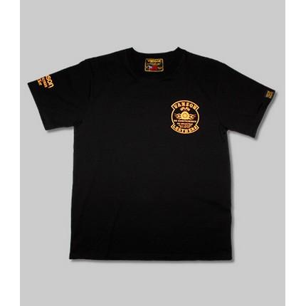 VANSON VS21807S コットンTシャツ ブラック/イエロー ◆全3色◆