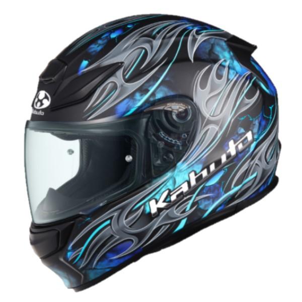 OGK kabuto SHUMA FLAME【シューマ フレイム】フルフェイスヘルメット フラットブラックブルー