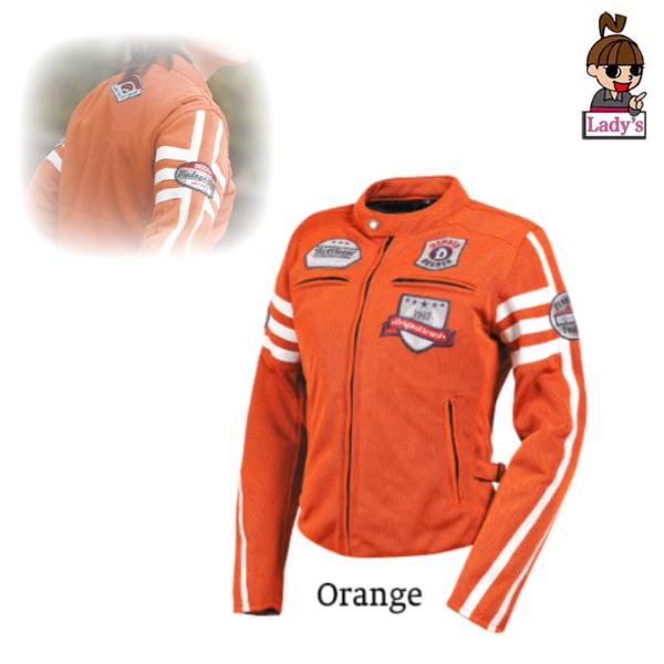 DEGNER (レディース)FR20SJ-12 テキスタイルメッシュジャケット オレンジ◆全3色◆