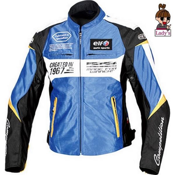 elf (レディース)EJ-S103 イデアールメッシュジャケット 春夏用 ブルー/ホワイト◆全6色◆