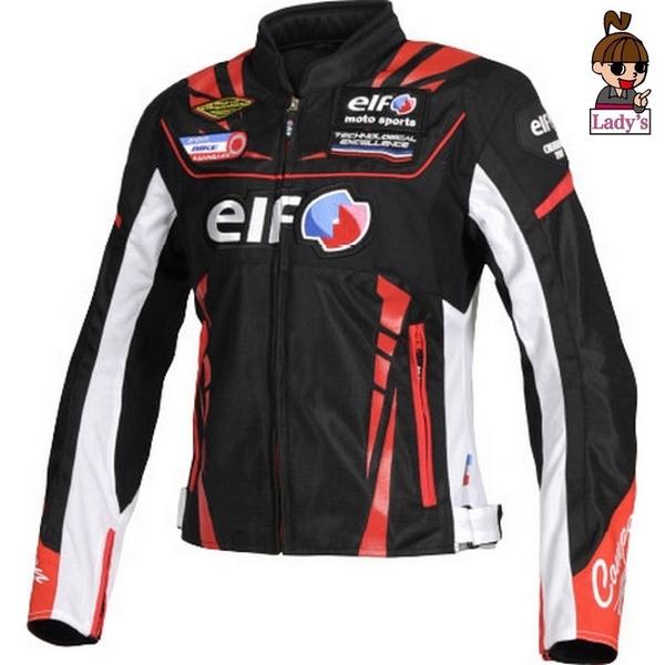 elf (レディース)EJ-S105  ヴィットリアエステートジャケット ブラック/レッド◆全5色◆