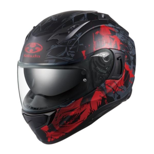 OGK kabuto KAMUI-3 TRUTH【カムイ3 トゥルース】 フルフェイスヘルメット フラットブラックレッド