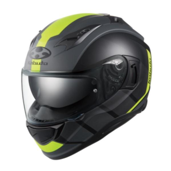 OGK kabuto KAMUI-3 JM【カムイ3 ジェーエム】 フルフェイスヘルメット フラットブラックイエロー