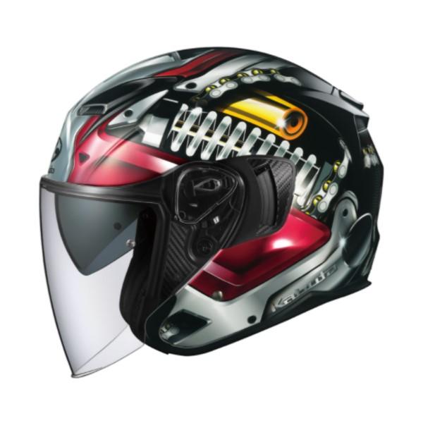 OGK kabuto EXCEED MACHINE [エクシード マシーン] ジェットヘルメット ブラックシルバー