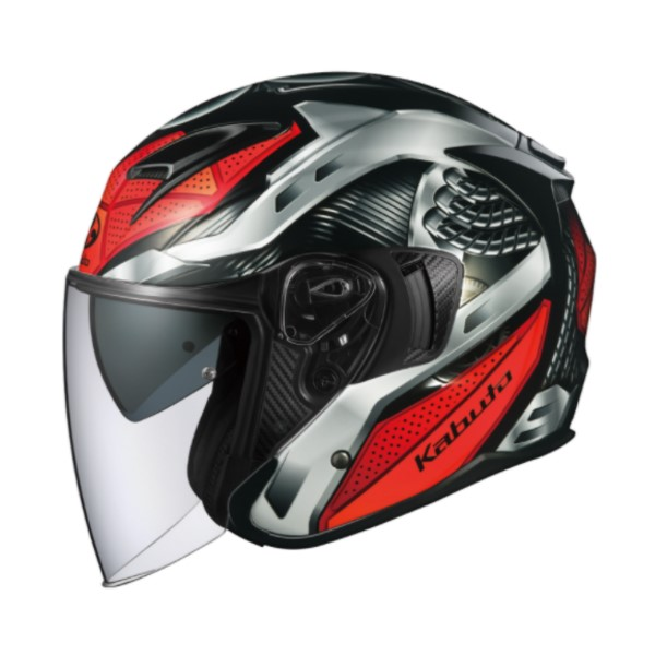 OGK kabuto EXCEED SPARK【エクシード スパーク】 ジェットヘルメット ブラックレッド