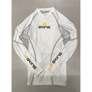 SKINS 【春夏グローブアウトレット】個別配送のみ SKINS LONG SLEE TOPS WH/GY