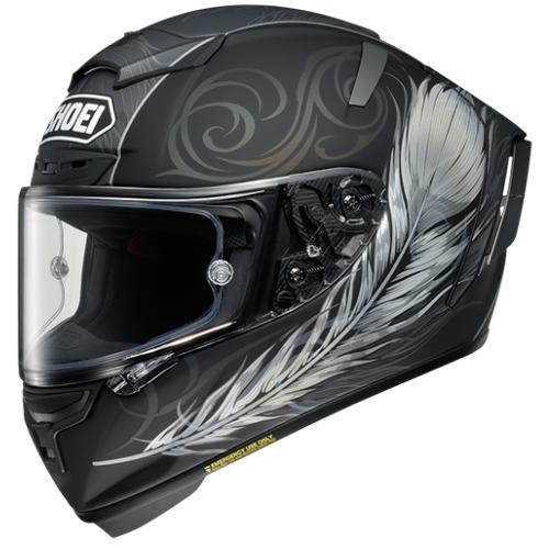 SHOEI ヘルメット X-Fourteen KUJAKU エックス - フォーティーン クジャク BLACK/GREY マットカラー