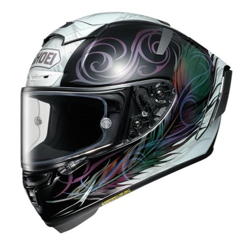 SHOEI ヘルメット X-Fourteen KUJAKU エックス - フォーティーン クジャク WHITE/BLACK