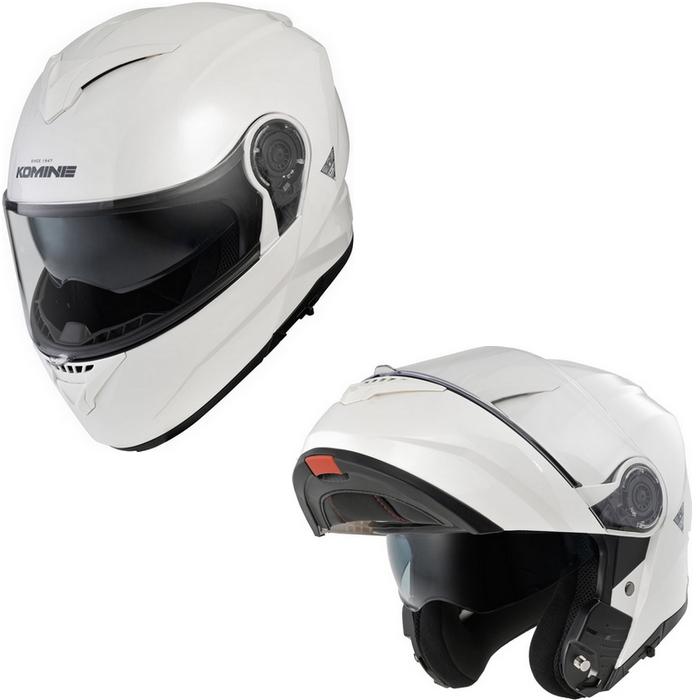 komine HK-171 FL システムヘルメット パールホワイト
