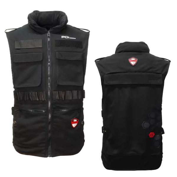 POI designs BPJ-04P-BK/XL Tactical Guard Vest CE