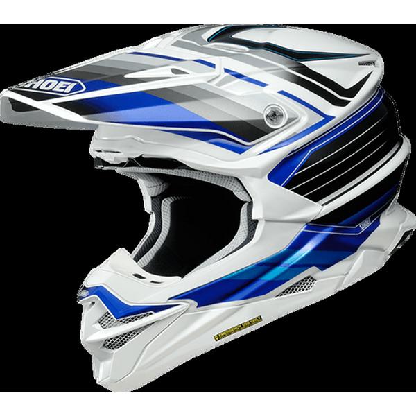 VFX-WR PINNACLE【ブイエフエックス-ダブルアールピナクル】 オフロードヘルメット BLUE/WHITE