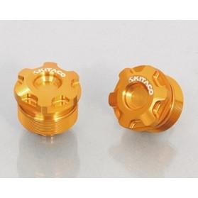 KITACO フロントフォークトップボルトSET ホンダタイプ1・ゴールド