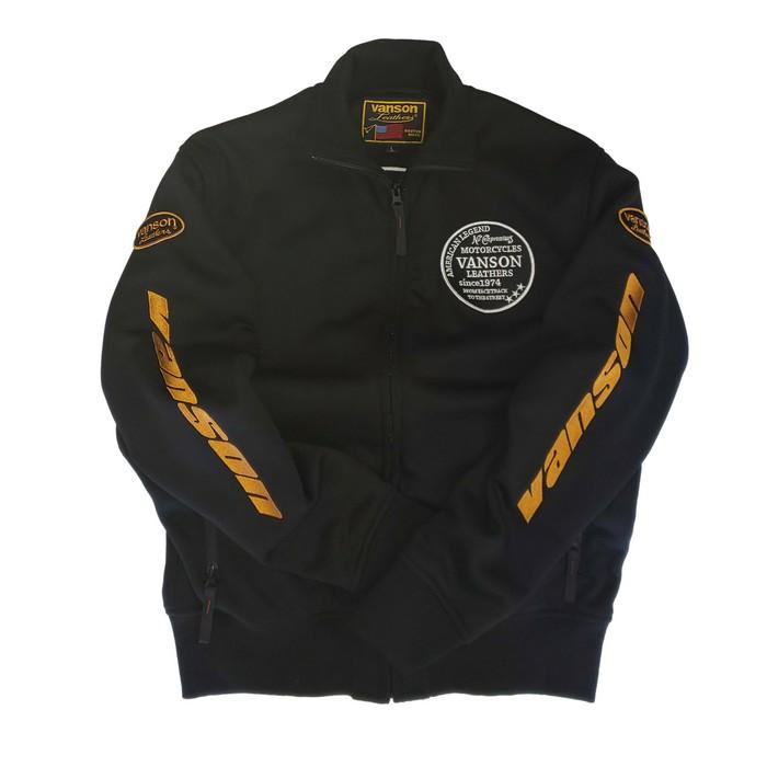 VANSON VS21401W スウェットジャケット ブラック/イエロー◆全3色◆