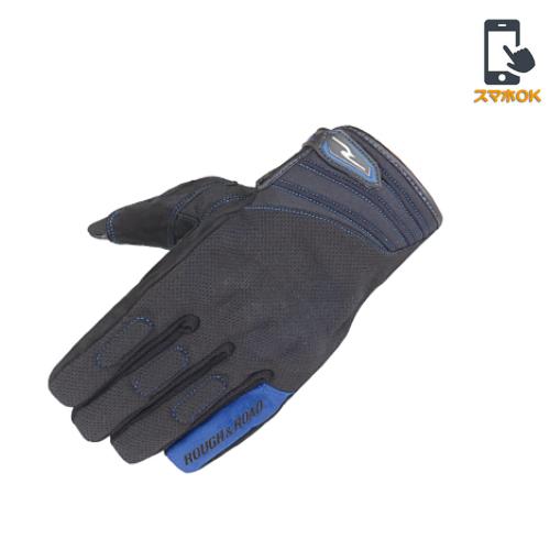 ROUGH&ROAD RR8026 コンフォートナックルグローブ Yブルー◆全3色◆
