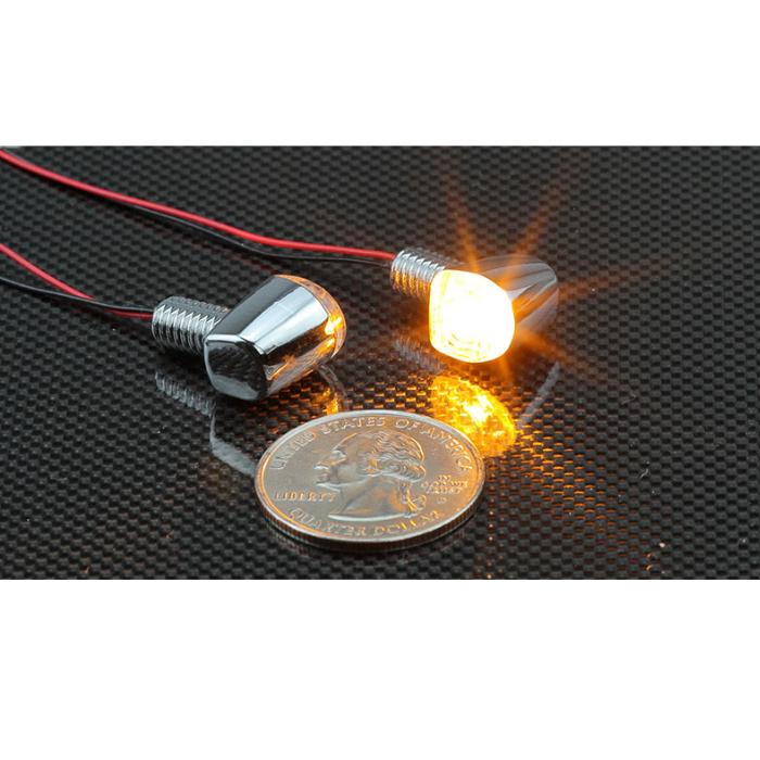 KIJIMA 219-5195 ウインカーランプ Nano シングル クロームメッキ LED 12V1.5W 2個入り