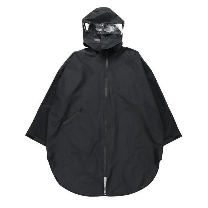 RIDEZ HOOD RAIN PONCHO ブラック◆全2色◆