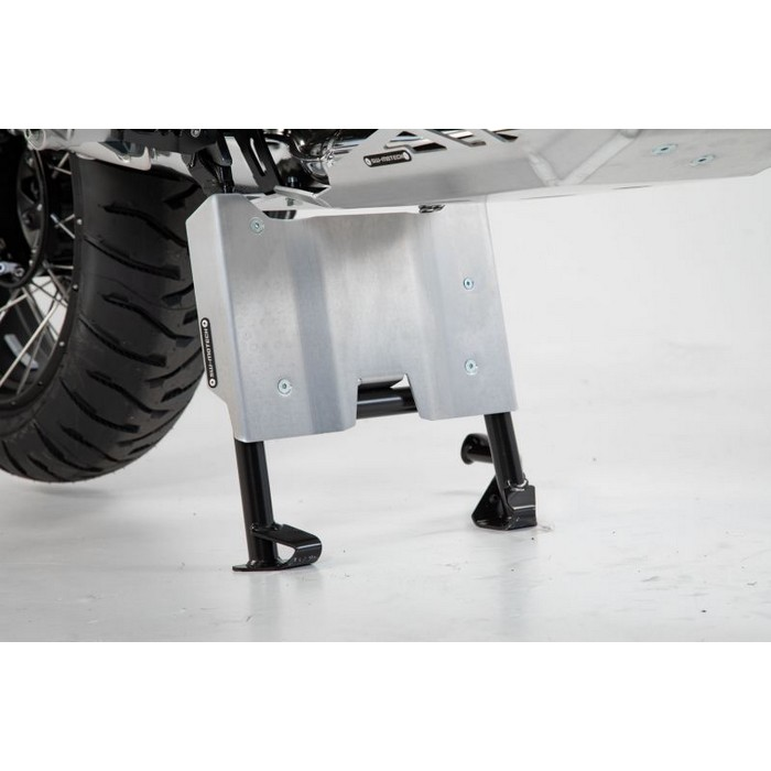 SW-MOTECH エンジンガードエクステンション サイドスタンド用 シルバー BMW R1200GS 12-18/R1250GS 18