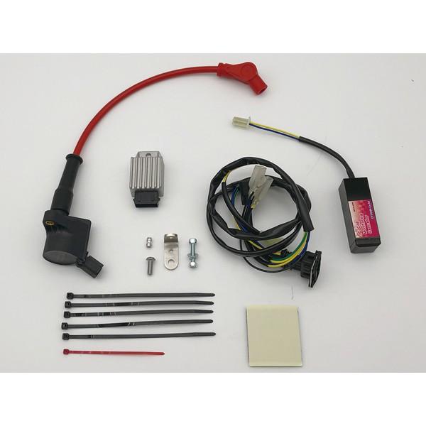 POSH CF SUPER IG COILKit S/プロツインプラグコードレッド SR400Fi