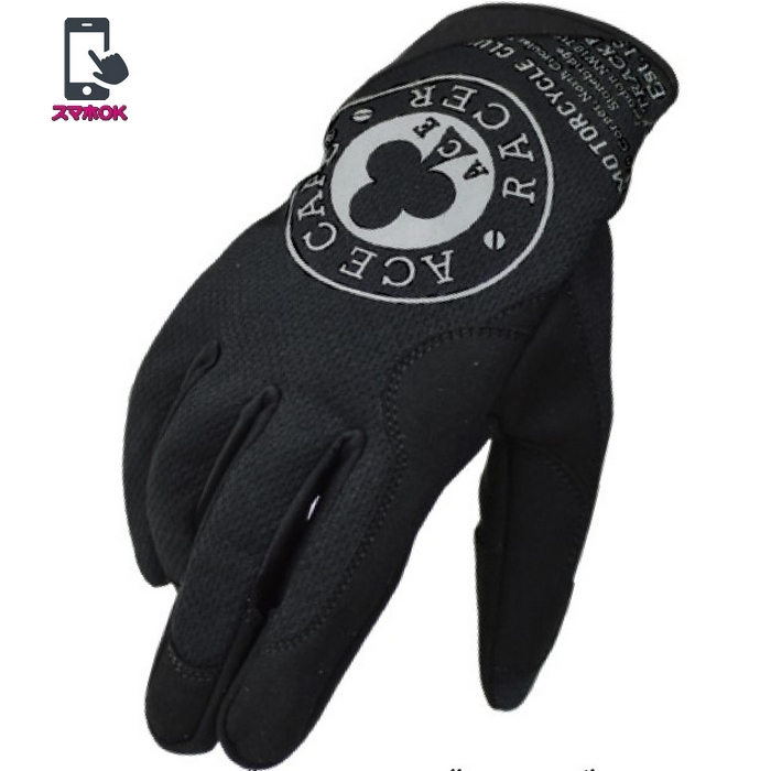 ACE CAFE LONDON ACE CAFE RACER メカニック メッシュグローブ ブラック/ダークグレー◆全3色◆