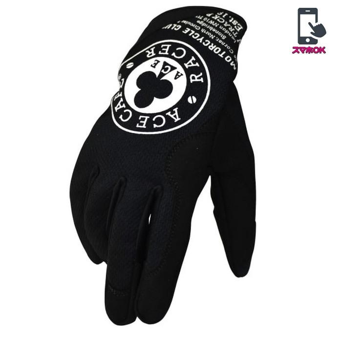 ACE CAFE LONDON ACE CAFE RACER メカニック メッシュグローブ ブラック/ホワイト◆全3色◆