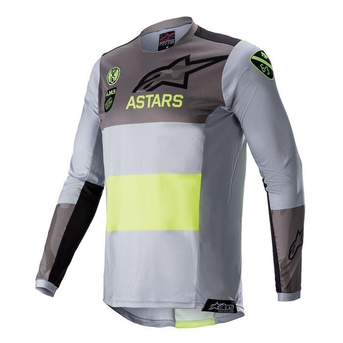 alpinestars alpinestars テックスター AMS21 LE ジャージ グレー/イエローフロー/ブラック