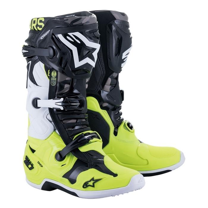 alpinestars alpinestars テック10 AMS21 LE ブーツ ブラック/イエローフロー/ホワイト