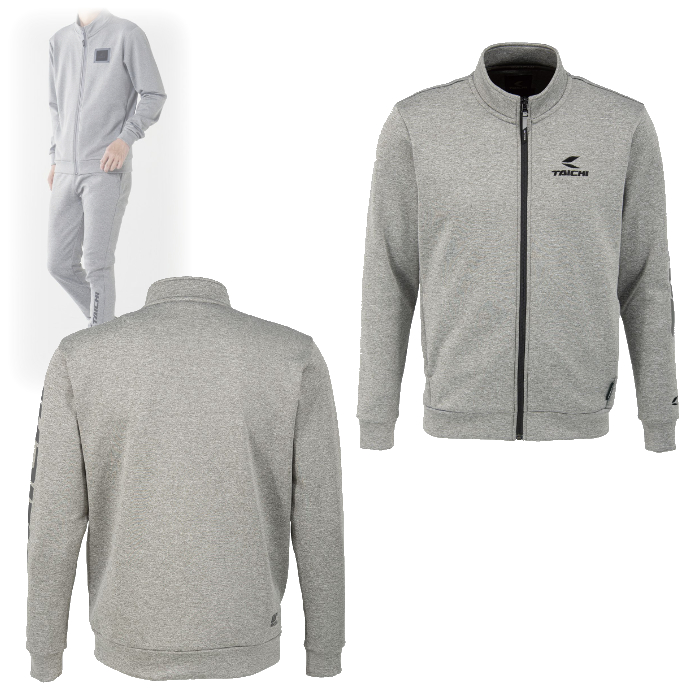 アールエスタイチ RSU626 ウォームライド ジップシャツ LOGO GRAY ◆全4色◆
