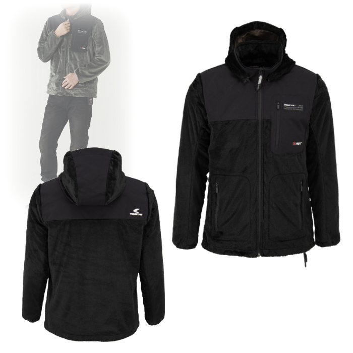 アールエスタイチ RSU630 e-HEAT フリース インナーパーカ BLACK ◆全2色◆