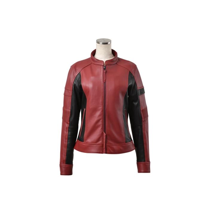 J-AMBLE (レディース)ROL-15 シングルライダースジャケット DARK RED/BLACK◆全4色◆