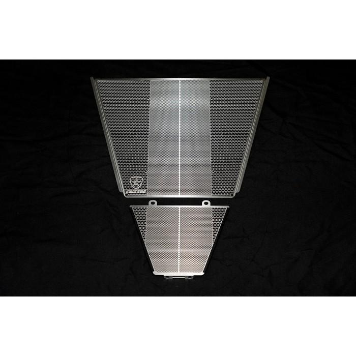 TRICK STAR ラジエター&オイルクーラーコアガード ブラックメッキ CBR1000RR-R
