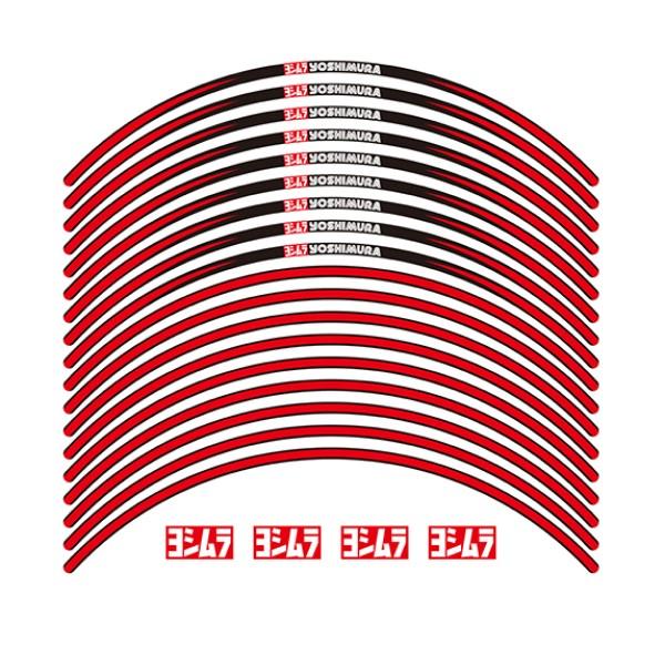 YOSHIMURA JAPAN リムステッカーType-A(17インチ/レッド)