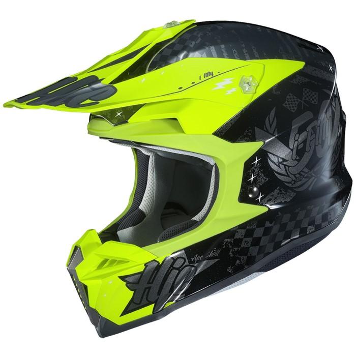 HJC HJH198 i50 [アルタクス] BLACK/FLUO YELLOW オフロードヘルメット