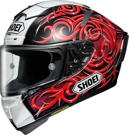 SHOEI ヘルメット X-Fourteen KAGAYAMA5【エックス - フォーティーン カガヤマ5】レッド/ブラック(TC-1)レプリカモデル フルフェイス ヘルメット
