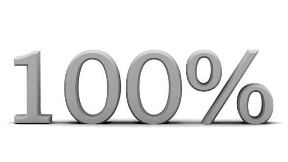 100% 100パーセント