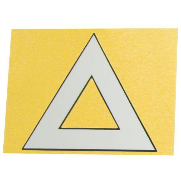 POSH 原付二種用三角ステッカー 1枚入