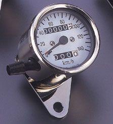 POSH 140km/hミニスピードメーター(機械式) トリップ付