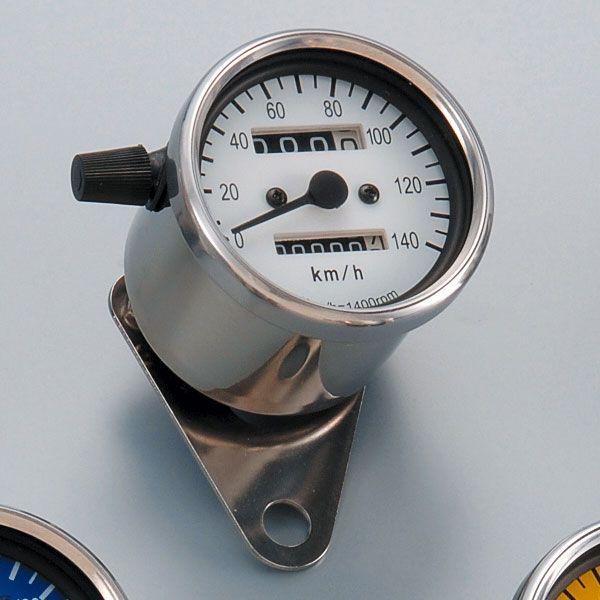 POSH LEDバックライト140km/hミニスピードメーター(機械式) トリップ付