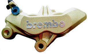 BREMBO キャスト 4ポット キャリパー 65mmピッチ 左 (4枚パッド)