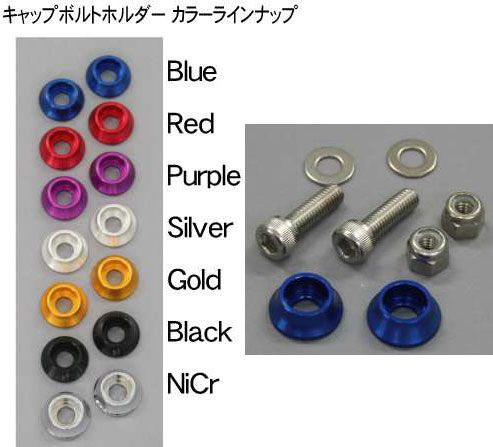 POSH ナンバープレート固定 キャップボルト&ナットセット