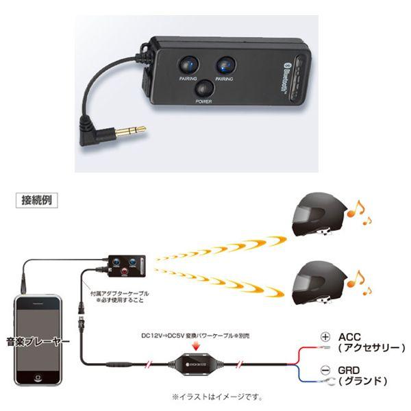 SygnHouse ビーコム デュアル・オーディオ・トランスミッター BC-DAT01M 電池内蔵タイプ