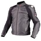 komine JK-529 Titanium Leather Jacket LEVATA punching