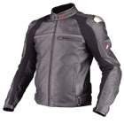 komine JK-529 Titanium Leather Jacket LEVATA punching
