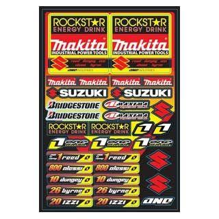 One industries ステッカーKIT 09 TEAM ROCKSTER MAKITA
