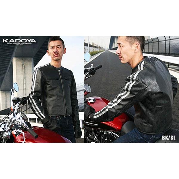 KADOYA PLJ-Lパンチングレザージャケット BIG SIZE