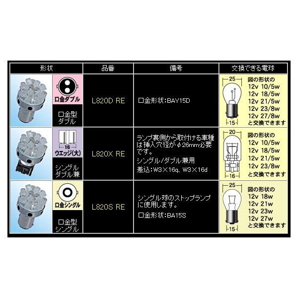 M&Hマツシマ ストップ/テール用LEDバルブ レッドモデル シングル,ダブル兼用