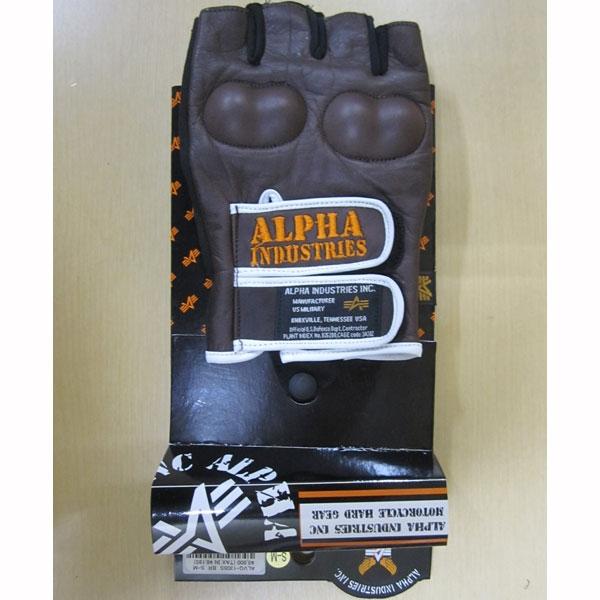 ALPHA ★【特価品】G1305 レザーハーフグローブ